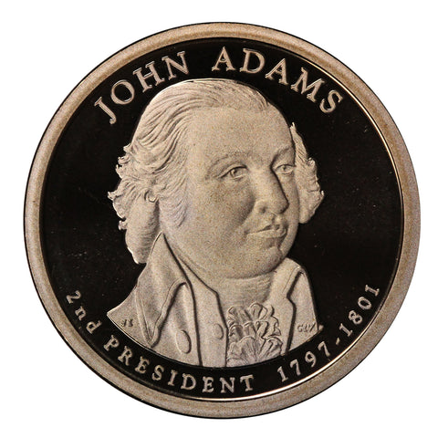2007-S John Adams Presidential Proof Dollar Gem Deep Cameo US Coin