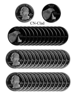 2007 S Idaho State Quarter Proof Roll CN-Clad (40 Coins)