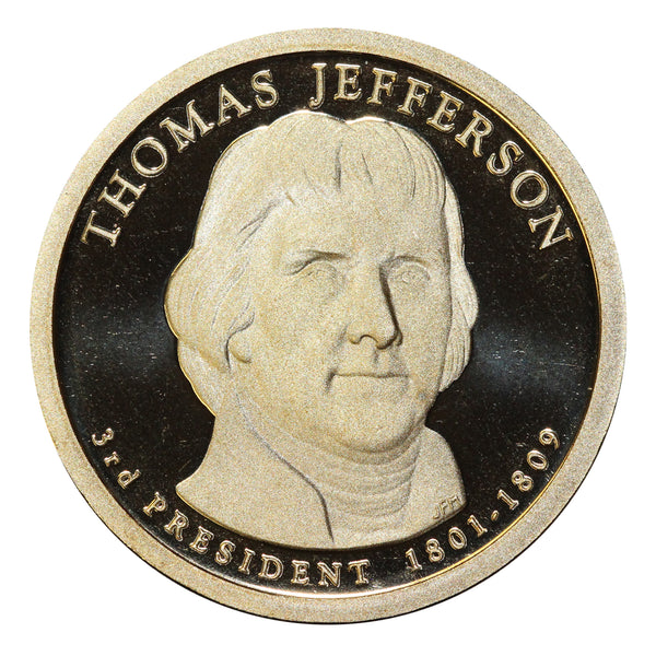 2007-S Thomas Jefferson Presidential Proof Dollar Gem Deep Cameo US Coin