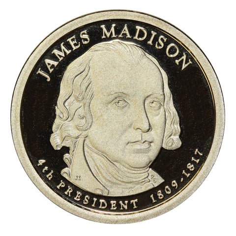 2007-S James Madison Presidential Proof Dollar Gem Deep Cameo US Coin