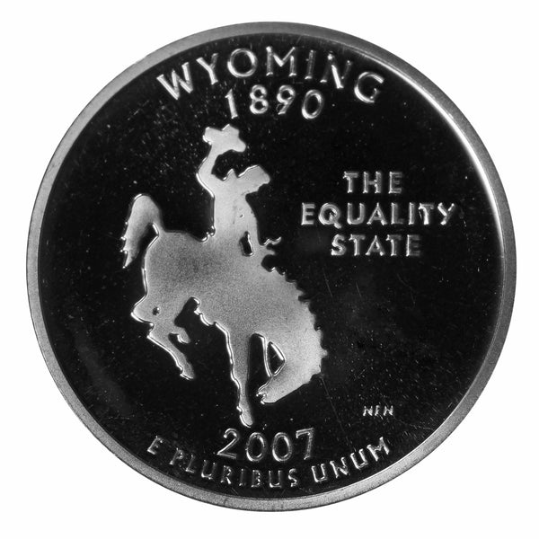 2007 S Wyoming State Quarter Proof Roll CN-Clad (40 Coins)