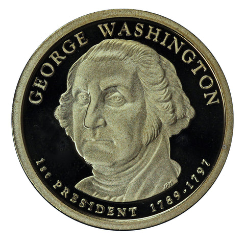 2007-S George Washington Presidential Proof Dollar Gem Deep Cameo US Coin