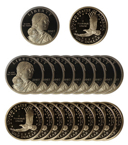 2007 S Sacagawea Dollar Gem Deep Cameo Proof Roll (20 Coins)