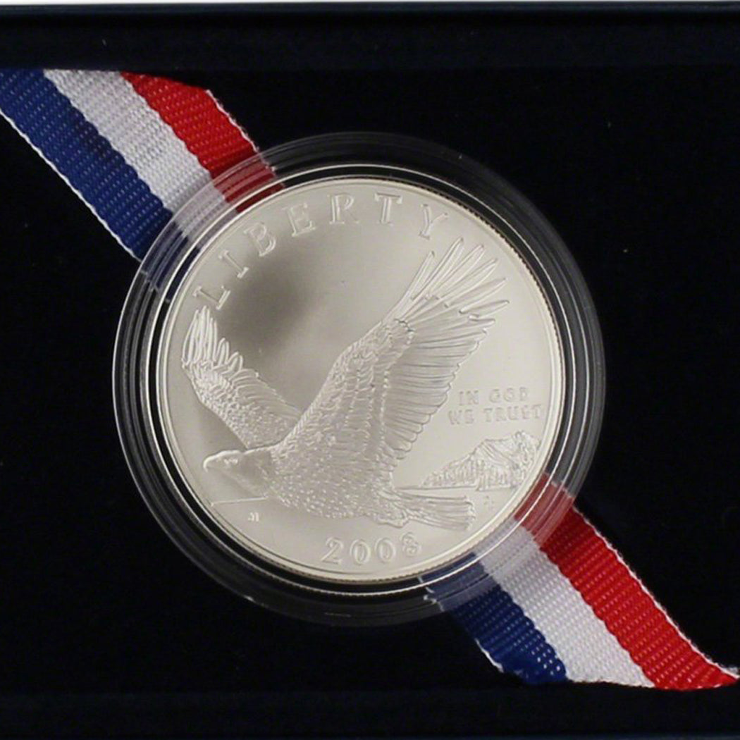 2008-P Bald Eagle Uncirculated Commemorative Dollar 90% Silver OGP
