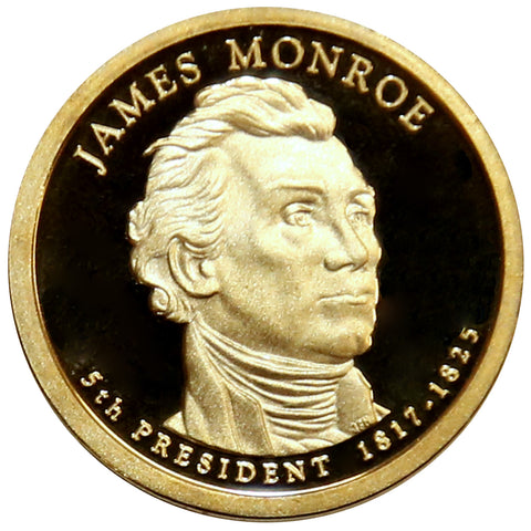 2008-S James Monroe Presidential Proof Dollar Gem Deep Cameo US Coin