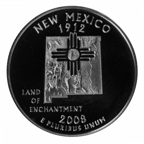 2008 S New Mexico State Quarter Proof Roll CN-Clad (40 Coins)