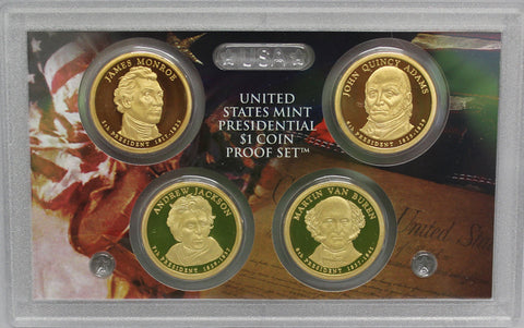 2008 S Presidential Dollar  US Mint Poof set in Lense NO BOX or COA 4 US Coins