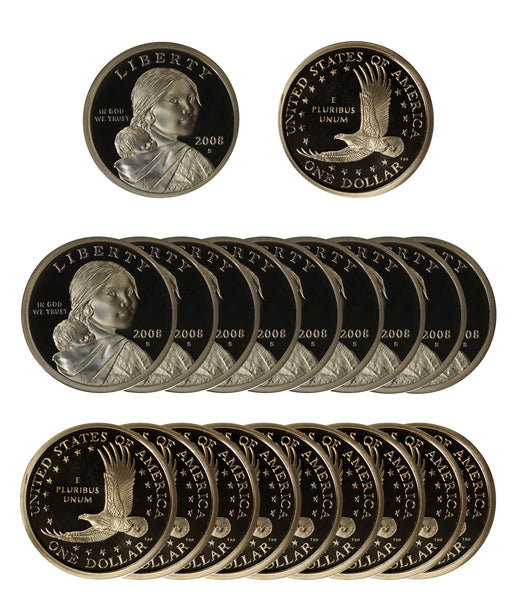 2008 S Sacagawea Dollar Gem Deep Cameo Proof Roll (20 Coins)