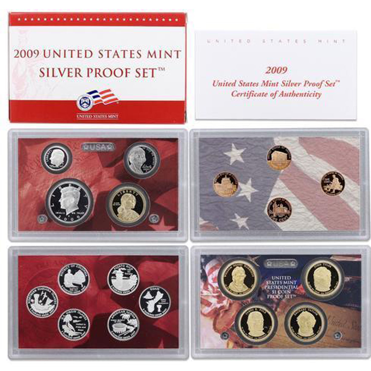 2009 Silver Proof Set (OGP) 18 coins