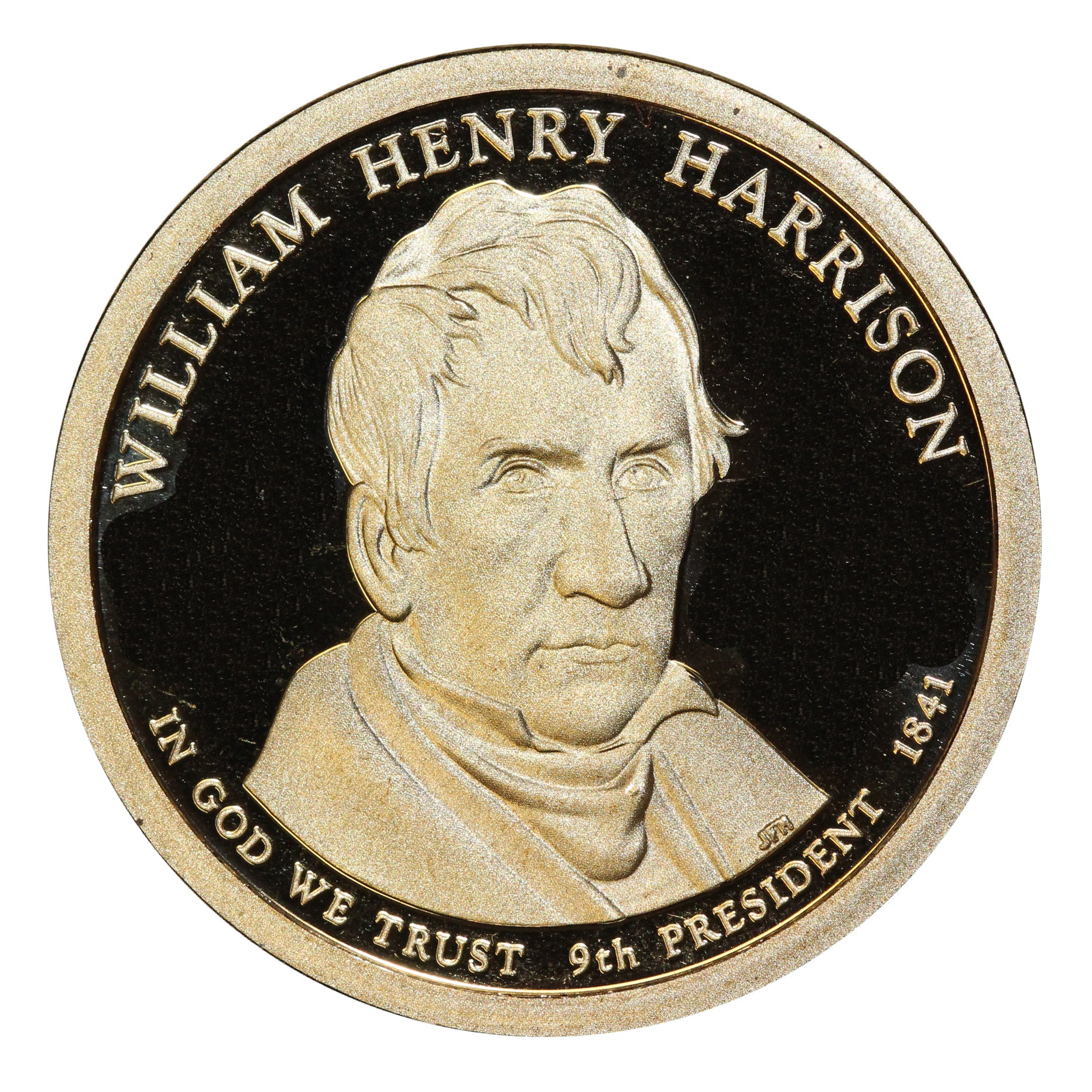 2009-S William Harrison Presidential Proof Dollar Gem Deep Cameo US Coin