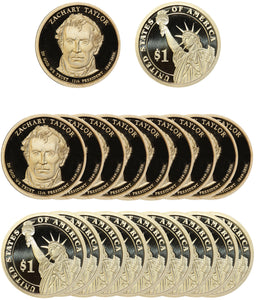 2009 S Zachary Taylor Presidential Dollar Proof Roll (20 Coins)
