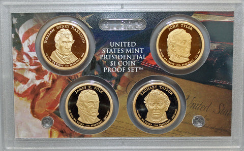 2009 S Presidential Dollar  US Mint Poof set in Lense NO BOX or COA 4 US Coins