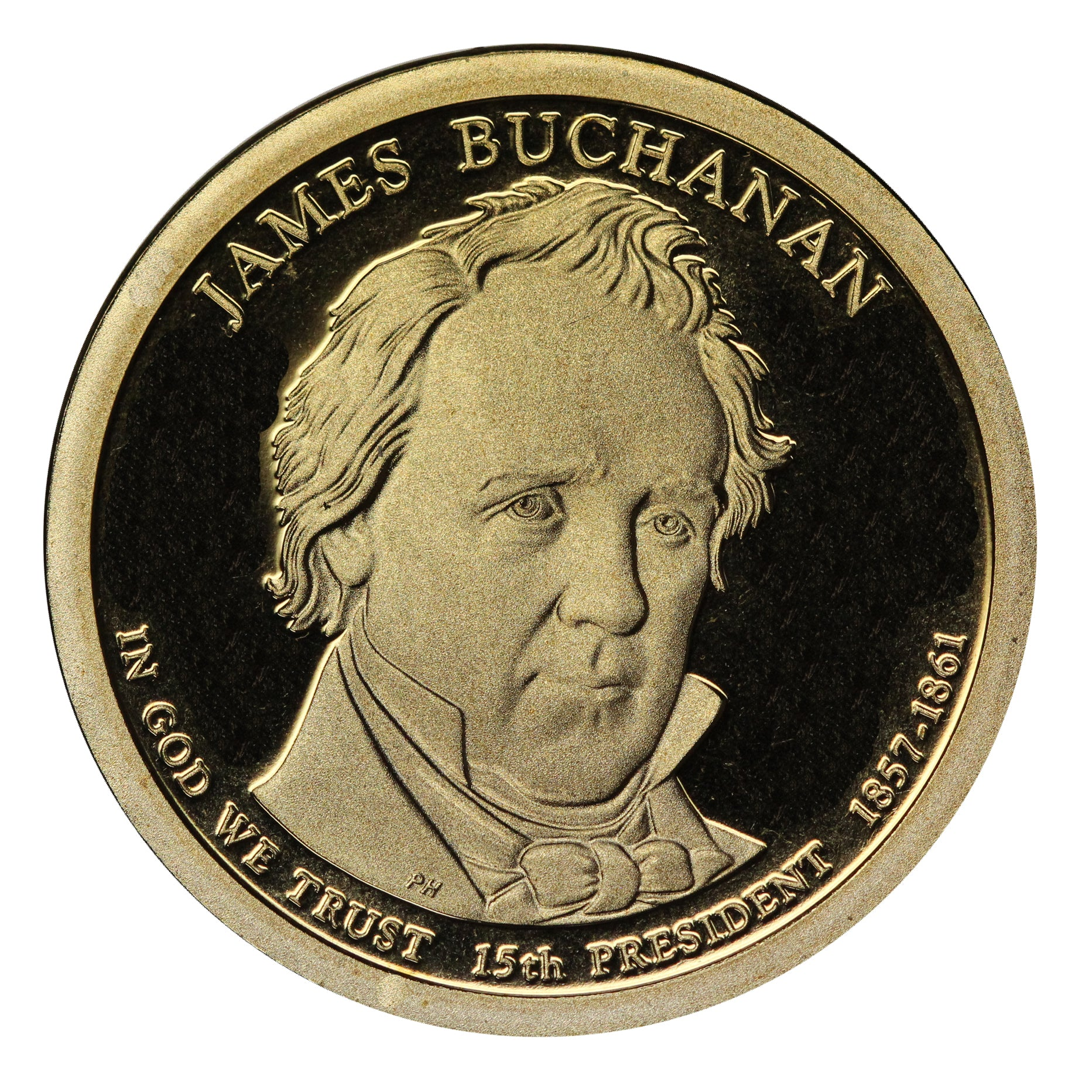 2010-S James Buchanan Presidential Proof Dollar Gem Deep Cameo US Coin