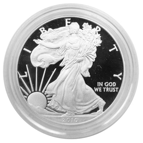 2010 W American Eagle Silver Proof 1 oz dollar - w/box & Coa