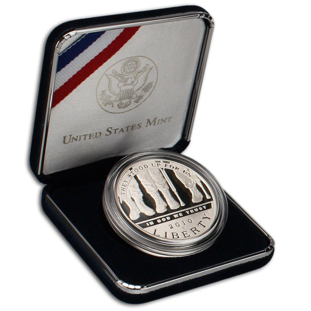 2010-W Disabled Veterans Proof Commemorative Dollar 90% Silver OGP