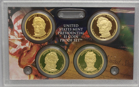 2010 S Presidential Dollar  US Mint Poof set in Lense NO BOX or COA 4 US Coins