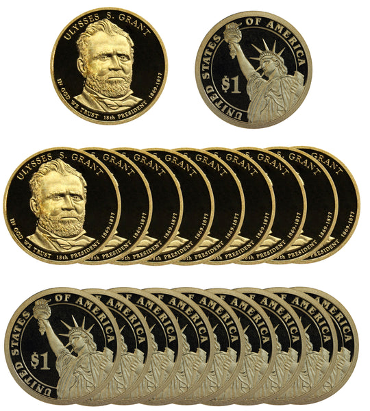 2011 S Ulysses Grant Presidential Dollar Proof Roll (20 Coins)