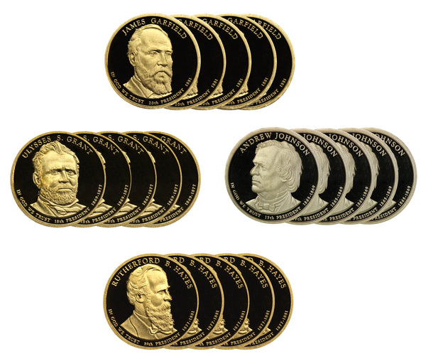 2011 S Presidential Dollar Proof Roll (20 Coins) Garfield Grant Hayes Johnson