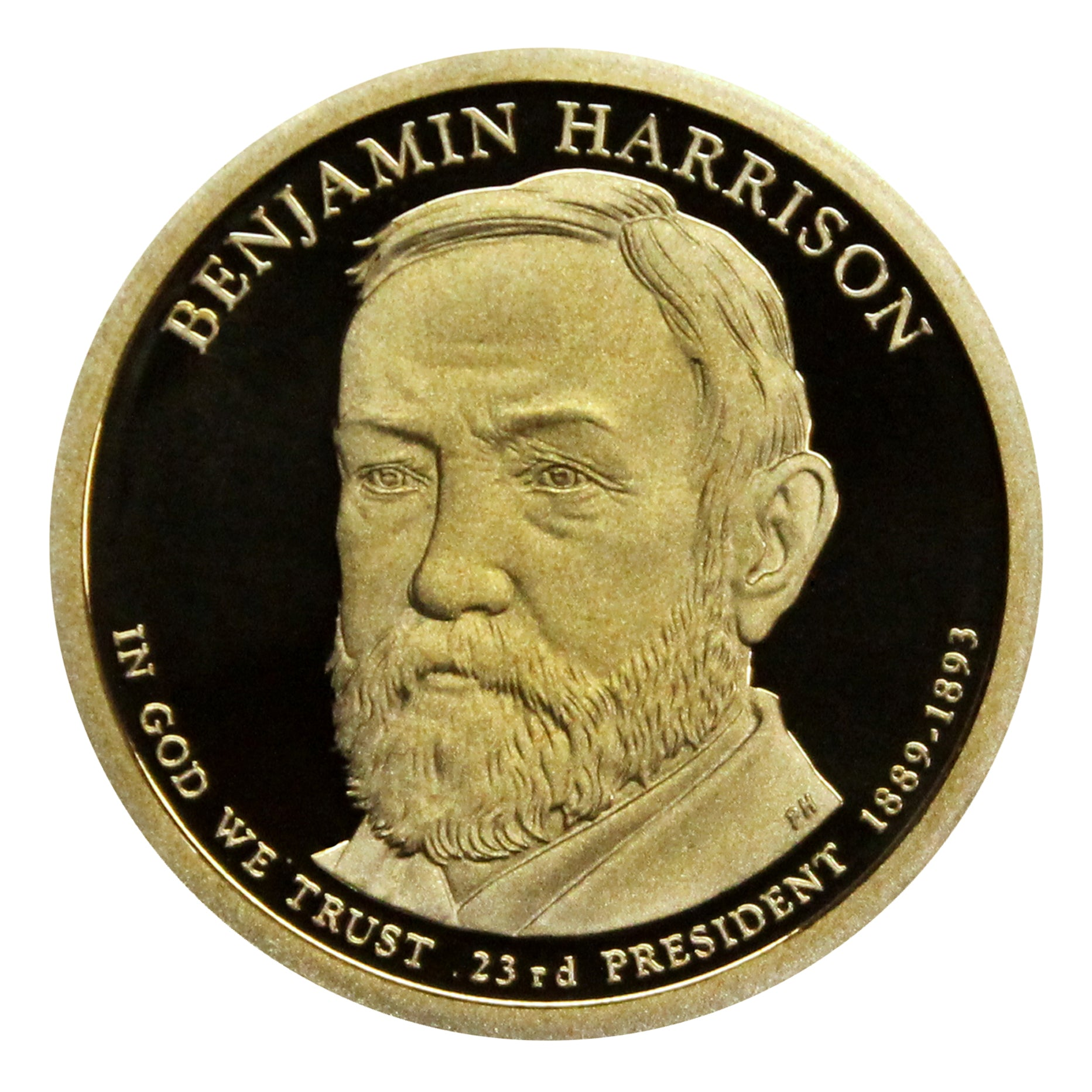2012-S Benjamin Harrison Presidential Proof Dollar Gem Deep Cameo US Coin