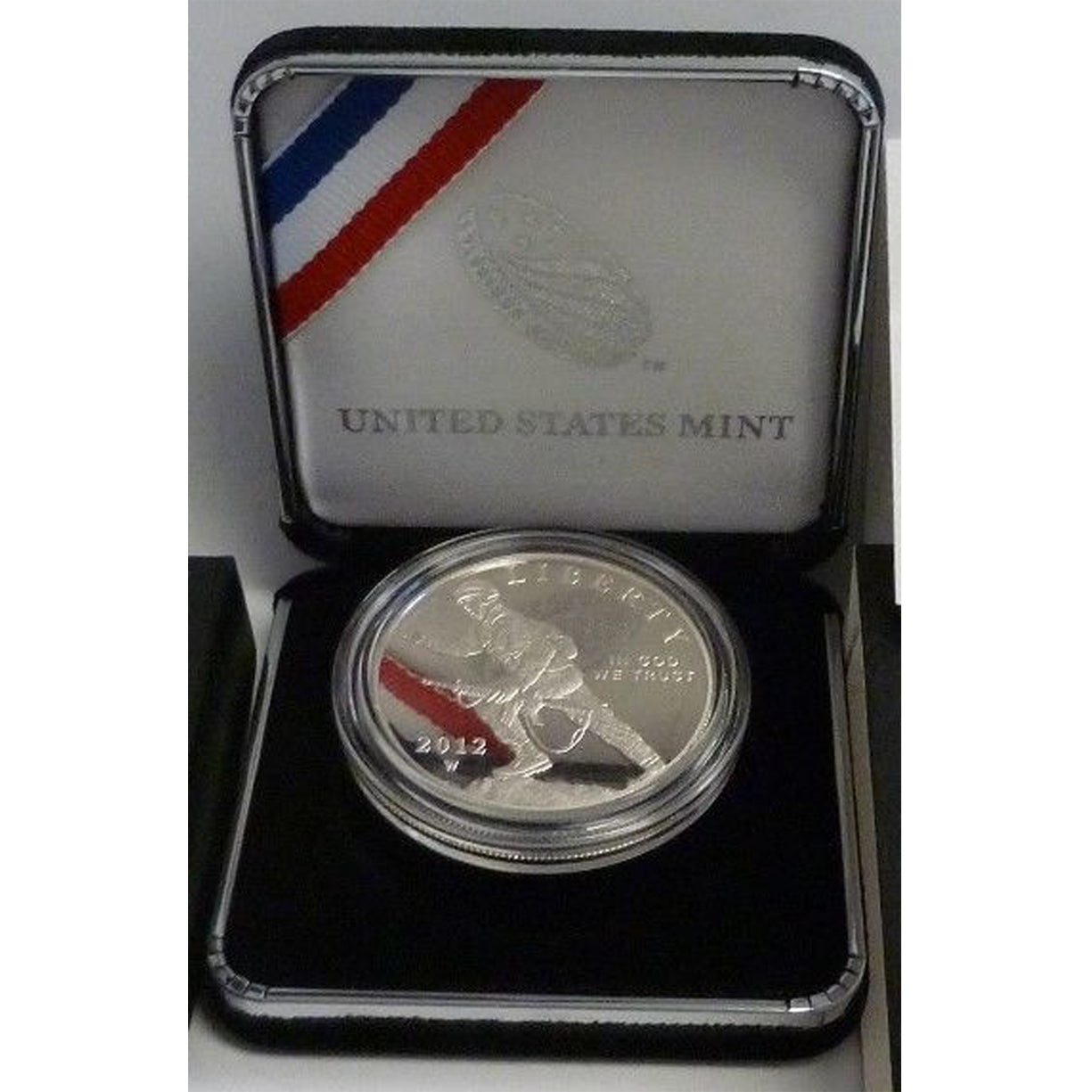 2012-W Infantry Proof Commemorative Dollar 90% Silver OGP
