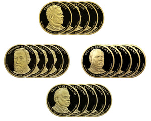 2012 S Presidential Dollar Proof Roll (20 Coins) Arthur Harrison Cleveland Cleveland