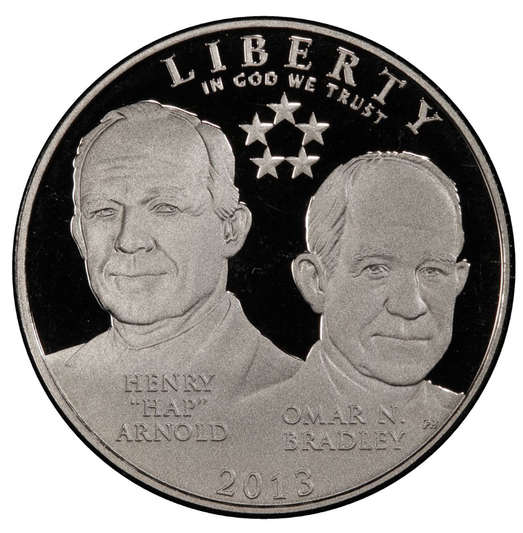 2013-S 5 Star Generals Proof Commemorative Half Dollar Clad OGP