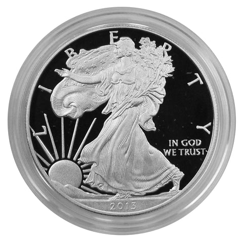 2013 W American Eagle Silver Proof 1 oz dollar - w/box & Coa