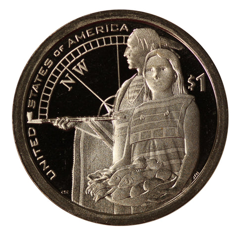 2014 S Sacagawea Dollar American Indian Gem Cameo Proof