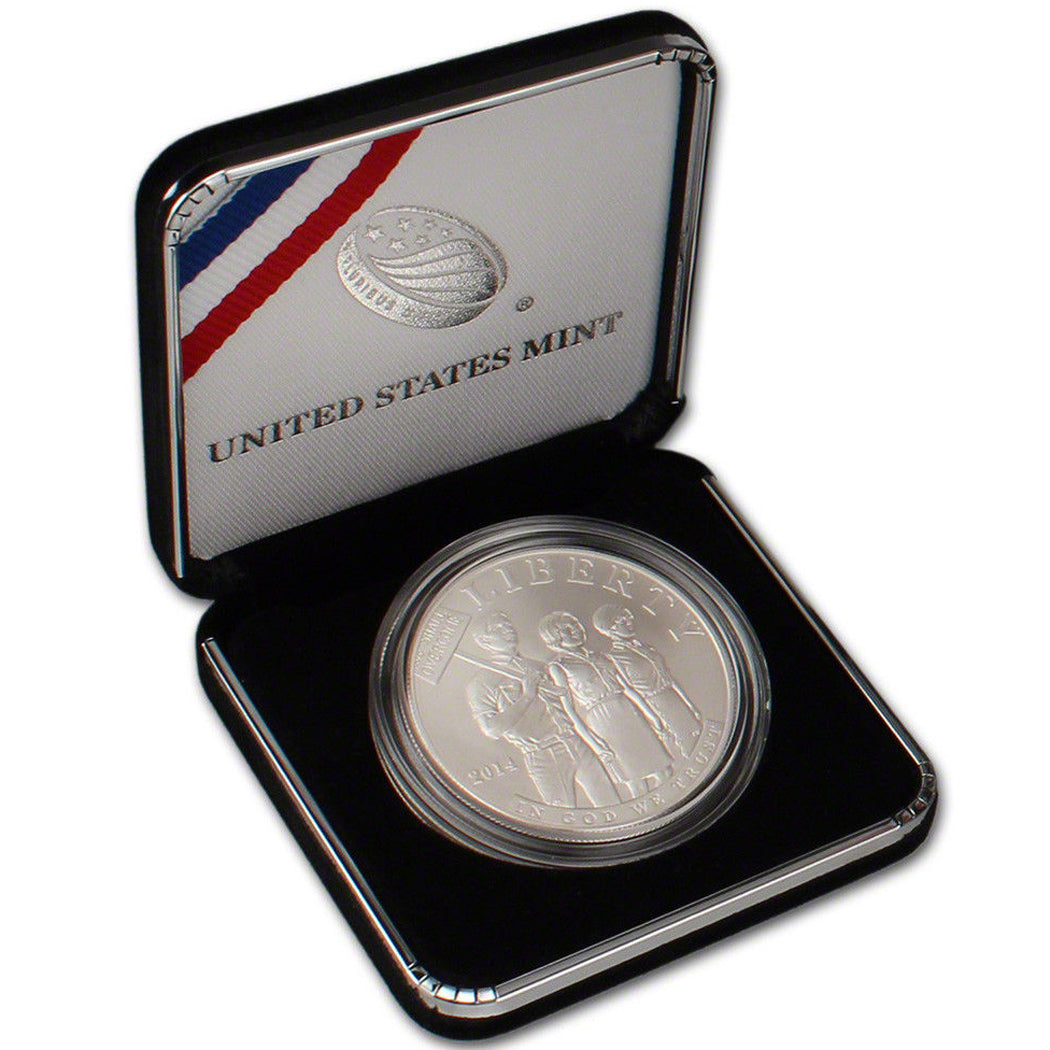 2014-P Civil Rights Act Uncirculated Commemorative Dollar 90% Silver OGP
