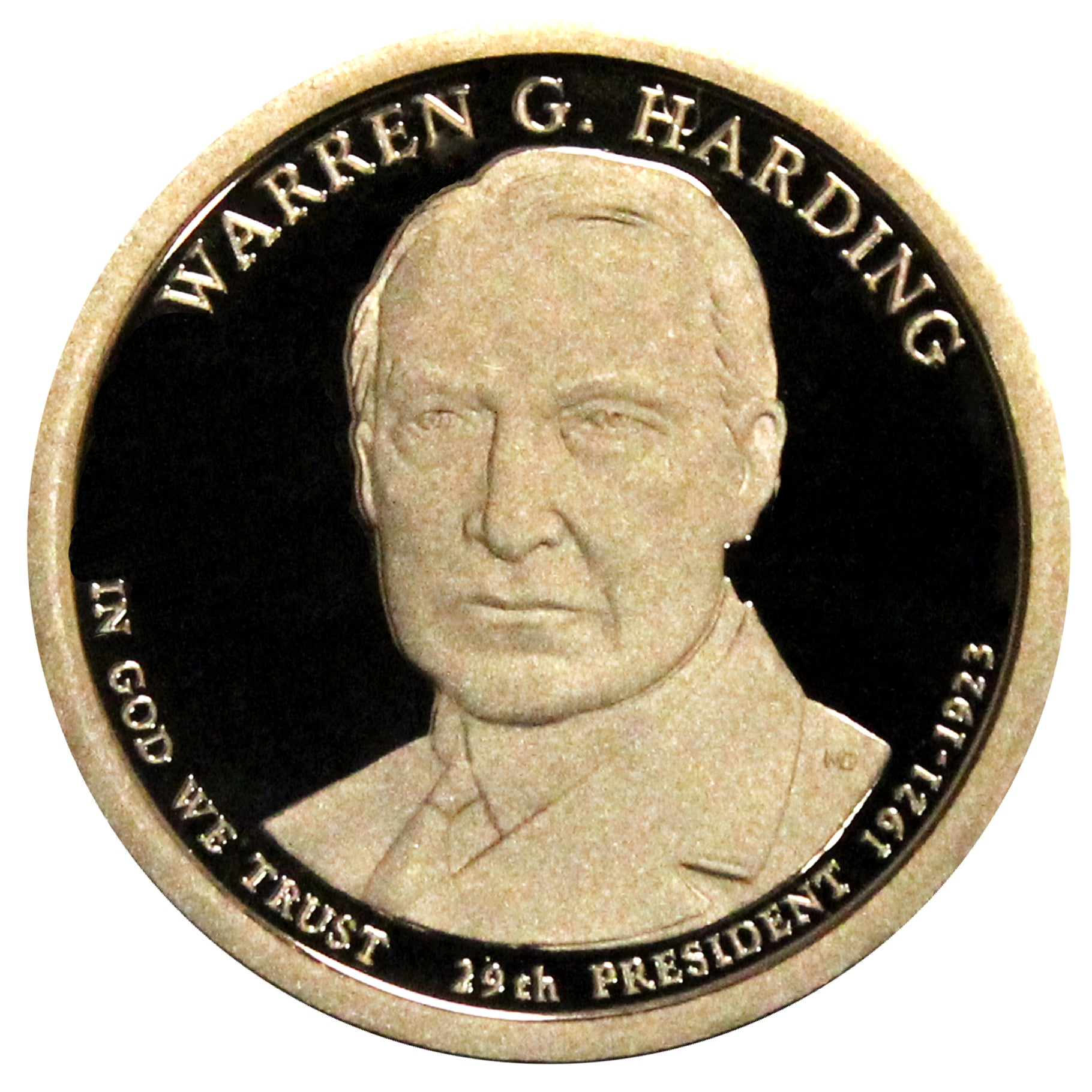 2014-S Warren Harding Presidential Proof Dollar Gem Deep Cameo US Coin
