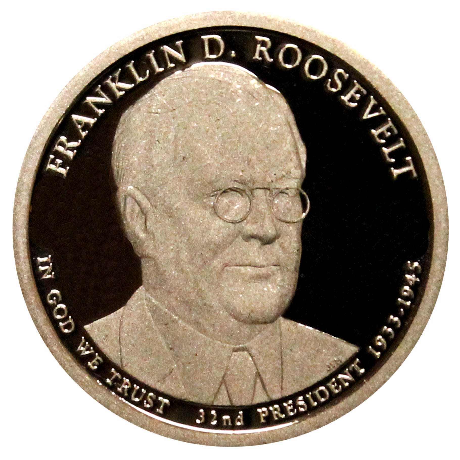 2014-S Franklin Roosevelt Presidential Proof Dollar Gem Deep Cameo US Coin