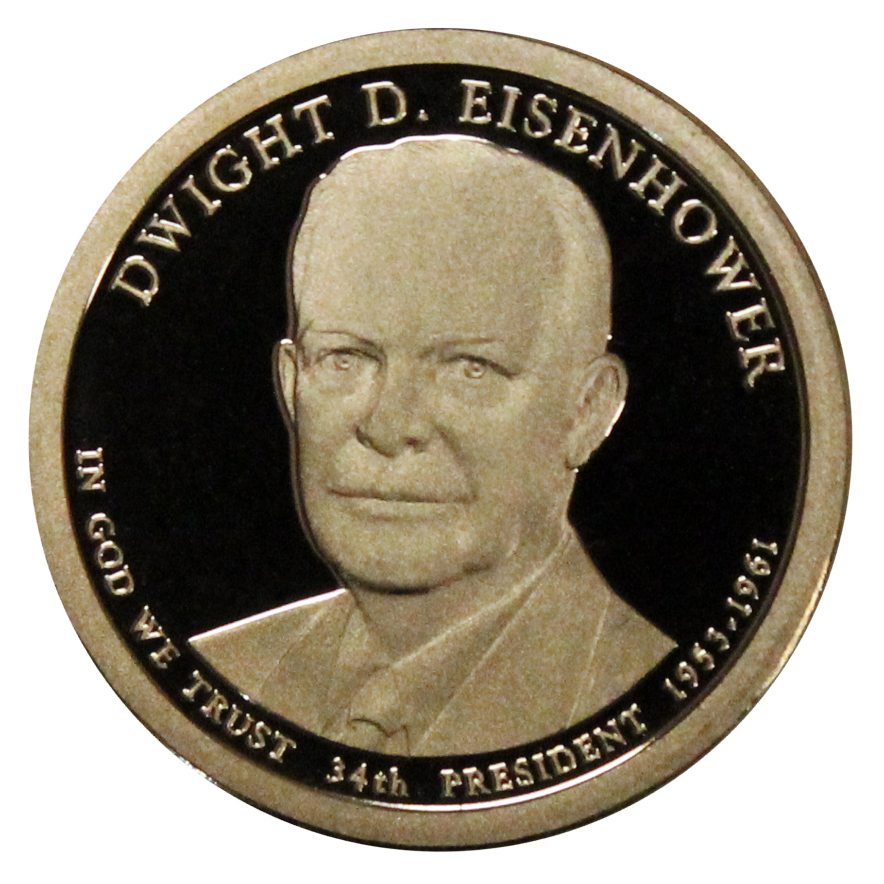 2015-S Dwight Eisenhower Presidential Proof Dollar Gem Deep Cameo US Coin