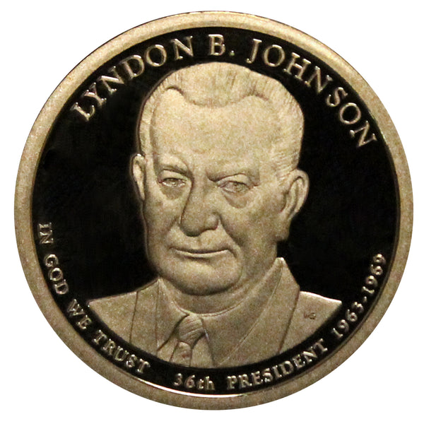 2015-S Lyndon Johnson Presidential Proof Dollar Gem Deep Cameo US Coin