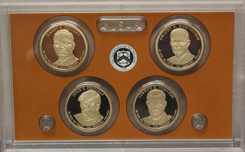 2015 S Presidential Dollar  US Mint Poof set in Lense NO BOX or COA 4 US Coins