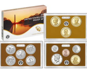 2016 Proof set 10 Pack CN-Clad Kennedy, Presidential Dollar, State quarters - (OGP) 130 coins