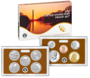 2017 Proof set 10 Pack CN-Clad Kennedy, State quarters - (OGP) 100 coins