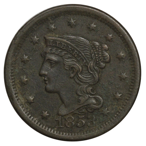 1853 Braided Hair Large Cent - Extra Fine Details (22041)