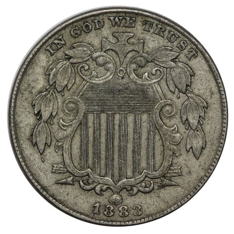 1883 Shield Nickel XF / AU Final year issue (AP 22056)