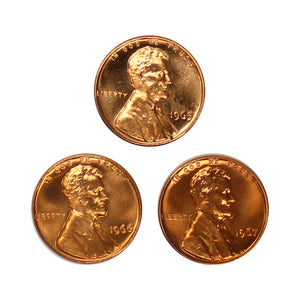 1965-1967 SMS Lincoln Memorial Cent Run 3 Coins