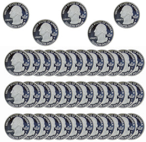 1999-2008 S State Quarter Cameo Proof Roll 90% Silver (40 Coins) Random Mix