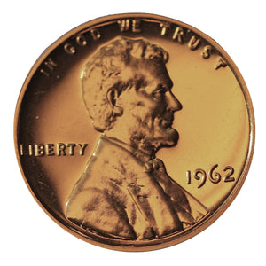 1962 Gem Proof Lincoln Memorial Cent