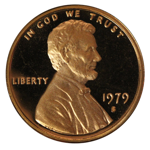 1979 S Lincoln Cent Choice Cameo Proof type 2 (Clear S)