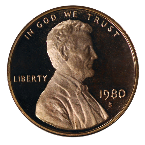1980 Gem Proof Lincoln Cent Roll (50 Coins)
