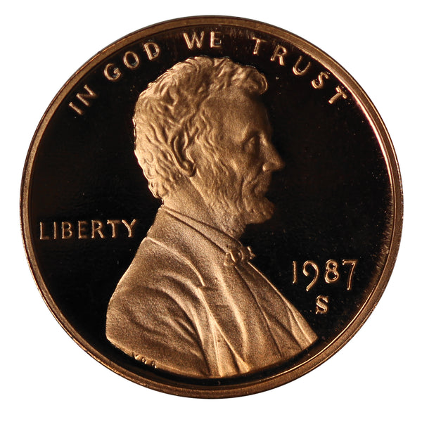 1987 Gem Proof Lincoln Cent Roll (50 Coins)
