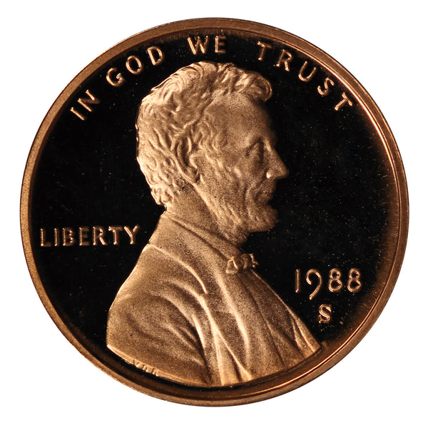 1988 Gem Deep Cameo Proof Lincoln Memorial Cent