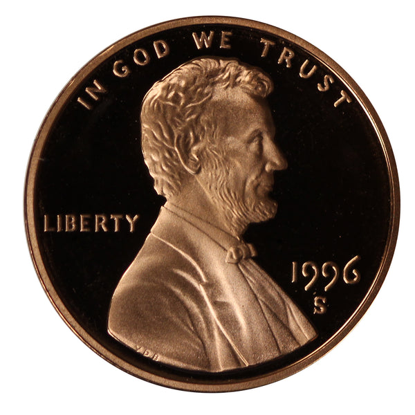 1996 Gem Proof Lincoln Cent Roll (50 Coins)