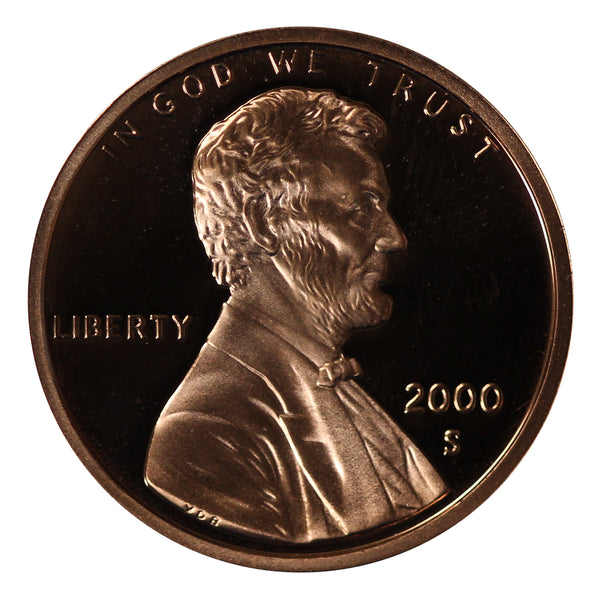 2000 Gem Proof Lincoln Cent Roll (50 Coins)