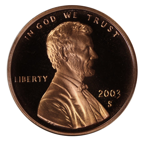 2003 Gem Deep Cameo Proof Lincoln Memorial Cent
