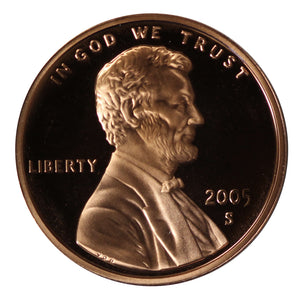 2005 Gem Deep Cameo Proof Lincoln Memorial Cent