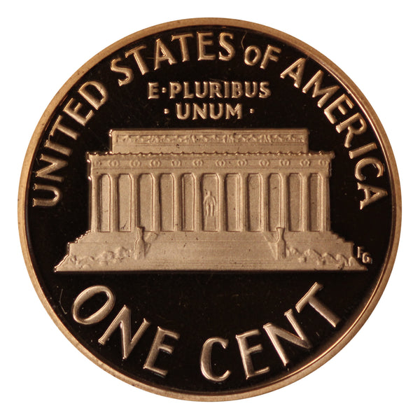 1993 Gem Deep Cameo Proof Lincoln Memorial Cent